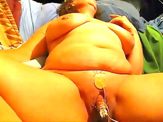 bbw lady with giant clit pumped and