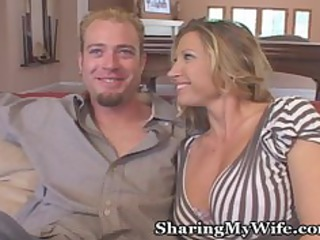 hubby and wife invite young over