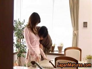 japanese older chick acquires banged doggy part1