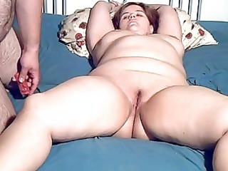 heavy young milf toyed and fellatio with facial