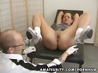 grownup fresh girl goes for a checkup and gets