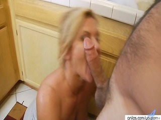 hardcore mature babe inside kitchen gets surprise