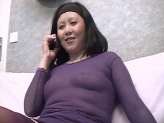 korean cougar , takes a black penis