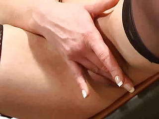 grown-up pushing dildo her cave