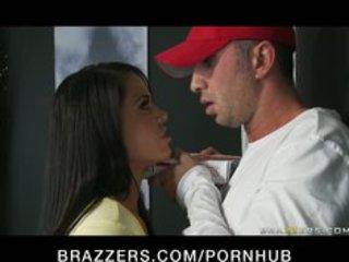 huge breast milf woman brunette deepthroats &