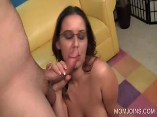 excited lady cave fucked on bed