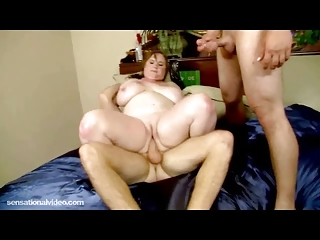 large breast mature babe gets plump pussy slapped