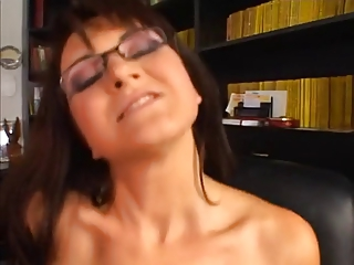 cougar inside glasses acquires ass