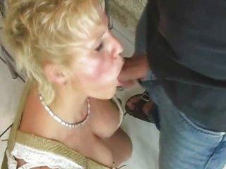 older moms drilling with stranger