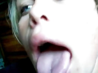 beautiful eyes slut licks and swallow