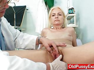 skinny furry elderly babe medic treatment