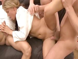 awesome blonde german older babe obtains banged
