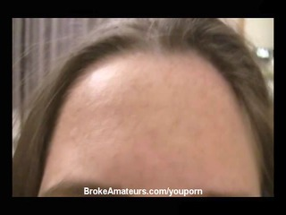 young woman gang-banged and takes a facial