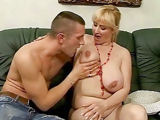 lusty busty elderly gang-banging with