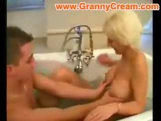 albino grownup woman banged inside the bath