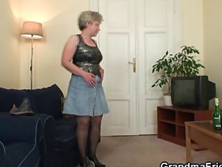 filthy granny takes two libidos at once