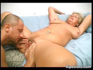 overrupe mature albino slut gets her old