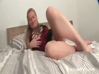 sexy grownup lady taking exposed her fuckable cave