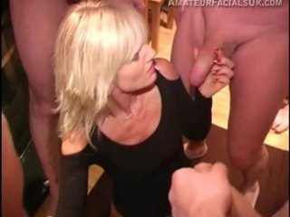 english mature babe obtains her initial bukkake