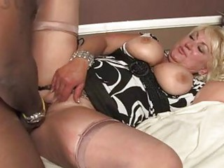 older blonde with big tits acquires fucked by