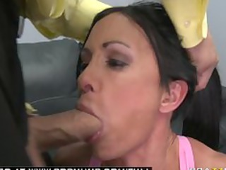 huge boob brunette slut adult movie star roughed