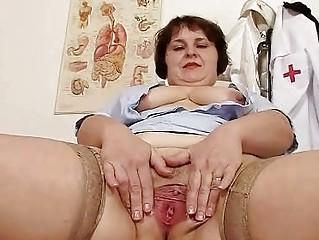 horny fat milf undresses nurse uniform