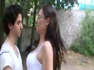 sophie french cougar girl drilled in a garden