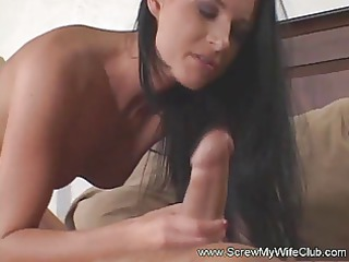 hubby watched his gorgeously super lady handled