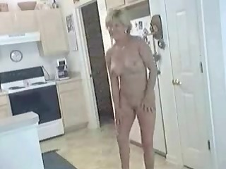 aged sexy slut inside natures garb in dining