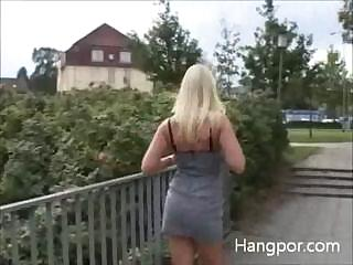 blonde milf gets a stroll and finds a hard, huge