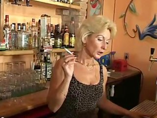 cougar barmaid smoking like