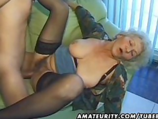 granny fresh older housewife sucks and copulates