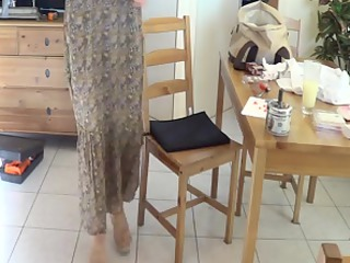 young maiden into lengthy skirt