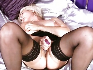 mature pale solo foreplay