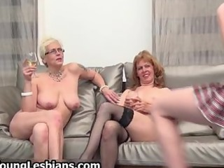 two horny older wifes having part1