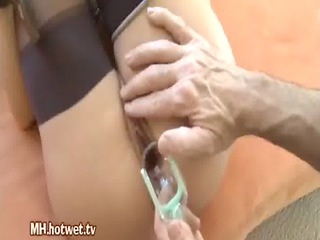 a daring milf gets different kinds of sex toys