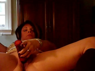 babe pushing dildo