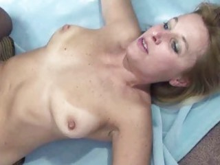 curvy and mature blonde liisa is riding a cock