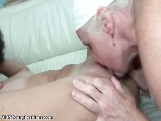 naughty elderly lesbian woman enjoys licking part2