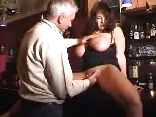 large tited lady gets pierced into a club