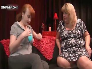 horny elderly lesbians obtain slutty rubbing