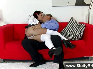 brunette fisting herself for old man
