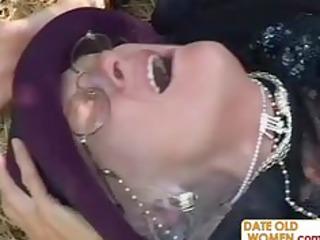 old kathy takes banged into the woods like a slut