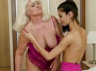 busty grandma has extremely impressive porn with