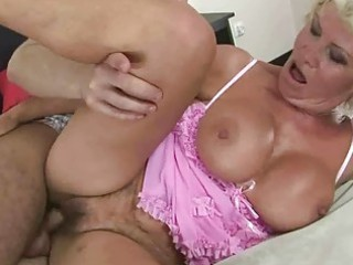 filthy granny enjoys fuck with a man