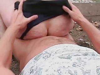 brunette grown-up mom fucked open-air