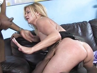 busty milf angel shags with black man into front
