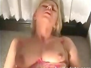 sweet blond housewife takes her taut bottom banged