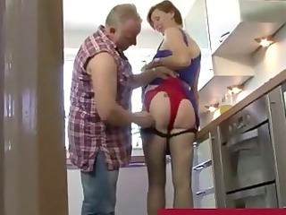 trucker muff diving wonderful elderly slut