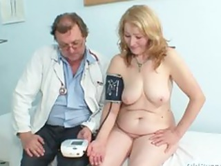 gyno nurse speculum examines very granny elderly